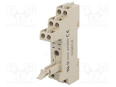 base 8 pinos/ trilho/ com travas/ bege  P2RF-08-E