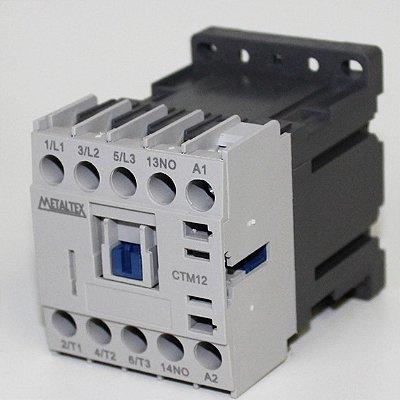 MINI CONTATOR 12A/AC3 - BOB: 24VCC - AUX: 1NA  CTM12-B0-310