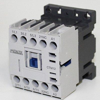MINI CONTATOR 12A/AC3 - BOB: 220VCA - AUX: 1NF  CTM12-H5-301