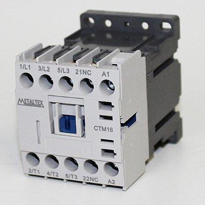 MINI CONTATOR 15A/AC3 - BOB: 24VCC - AUX: 1NF  CTM16-B0-301