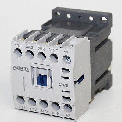 MINI CONTATOR 7A/AC3 - BOB: 24VCC - AUX: 1NF  CTM6-B0-301