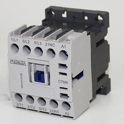 MINI CONTATOR 7A/AC3 - BOB: 24VCA - AUX: 1NF  CTM6-B5-301