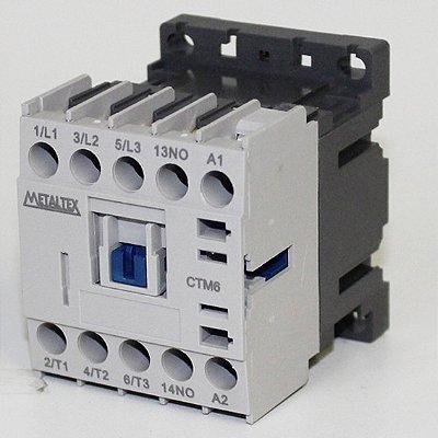 MINI CONTATOR 7A/AC3 - BOB: 24VCA - AUX: 1NA  CTM6-B5-310