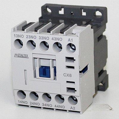 CONTATOR AUXILIAR 4NA - 220VCA  CX6-H5-40