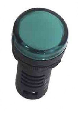 SINALEIRO LED 22MM - 12VCA/CC VERDE P IP65  L20-R9-GP