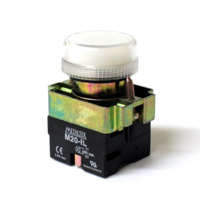 SINALEIRO LED 22MM - 24V - BRANCO  M20PR-W7