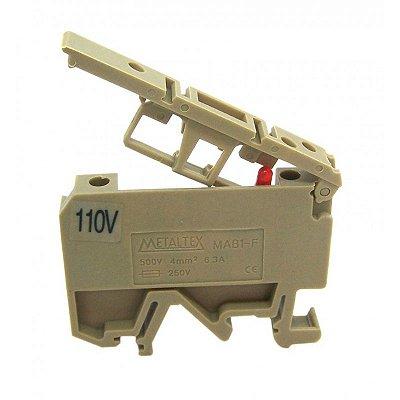 CONECTOR PORTA-FUSIVEL SECCIONAVEL C/ SINALIZACAO LED 110V PARA TRILHOS TS32 E TS35  MAB1-F-110V