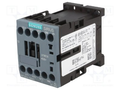 contator 9 A / 4 kW 1 NO 24 Vcc tamanho S00 3RT2016-1BB41