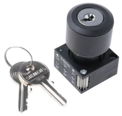 comutador 3 posições com chave ronis com retenção, 3SB30004DD11