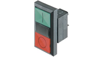 frontal botão de comando duplo com sinalização 3SB31018BC21