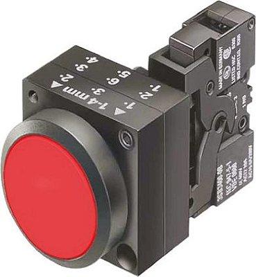 botao plastico impulso vermelho com1na 3SB3202-0AA21
