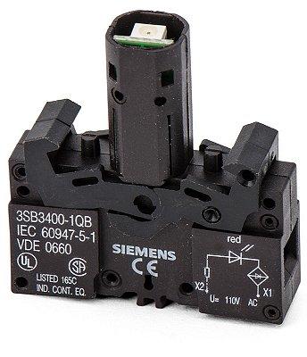 elemento soquete com LED incorporado  110V VM 3SB3400-1QB