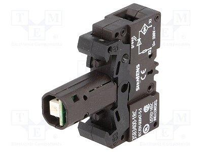 elemento soquete com led incorporado  220V VD 3SB34001RC