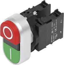 botão de comando duplo com sinalização 1NA+1NF+LED 110Vca 3SB6135-3CA24-1MK0