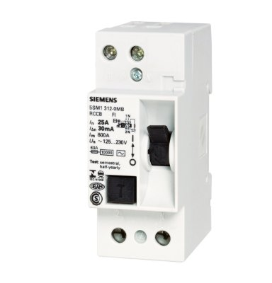 dispositivo diferencial residual 25A, bipolar, 30mA 5SM13120MB