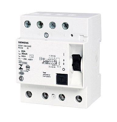 dispositivo diferencial residual 25A, tetrapolar, 30mA 5SM13420MB