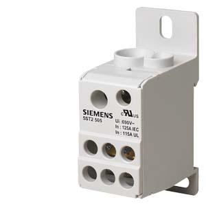 bloco de distribuição 1p 125A 690V   din 5ST2505
