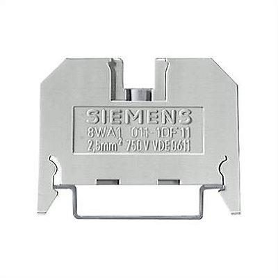conector de passagem, 2,5mm, bege, parafuso 8WA1011-1DF11