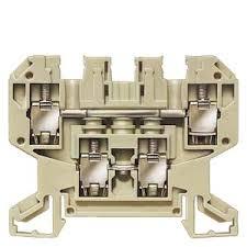 conector de passagem duplo/4mm²/bege/parafuso 8WA1011-2DG11