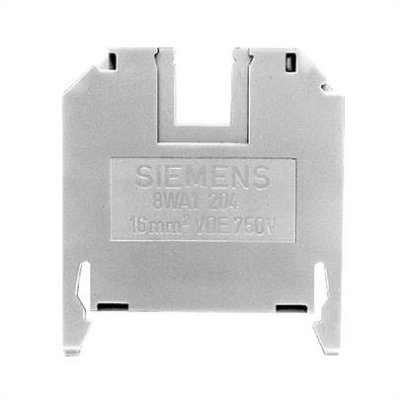 conector de passagem, 16mm, bege, parafuso 8WA1204