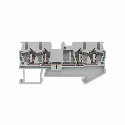 conector de passagem/2,5mm/cinza/mola para4 condut 8WH2004-0AF00