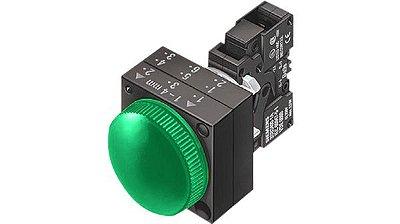 sinaleiro plastico com soquete direto verde 3SB3204-6AA40