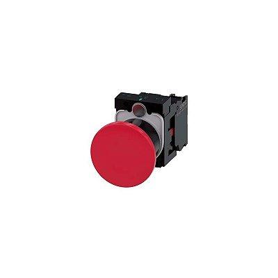 BOTÃO COGUMELO 40MM CIRCULAR PLÁSTICO VM   3SU1100-1BA20-1CA0