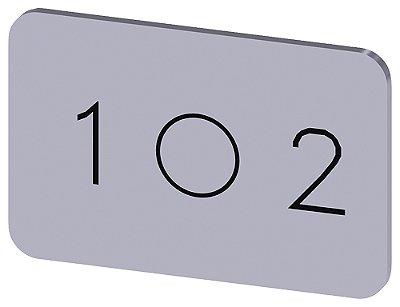 PLACA DE IDENT. AUTO ADESIVA OU ENCAIXE   3SU1900-0AD81-0QL0
