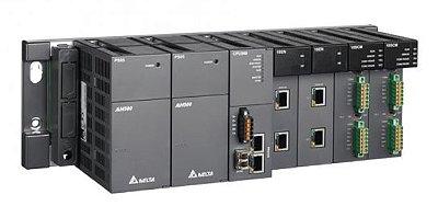CLP Modelo AH500 com 256K Steps, 1 Porta Ethernet (MODBUS TCP/IP), 1 Portas RS485 (MODBUS), 1 Porta USB, 1 Entrada para cartão SD e Alimentação 24Vdc DELTA AHCPU530-EN