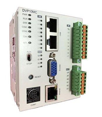 CLP Modelo MC com 8 Entradas, 4 Saídas Digitais a Transistor NPN e Alimentação 24Vdc - 16 Eixos DELTA DVP10MC11T