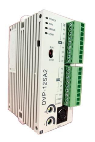 CLP Modelo SA2 com 8 Entradas e 4 Saídas Digitais a Transistor NPN e Alimentação 24Vdc DELTA DVP12SA211T