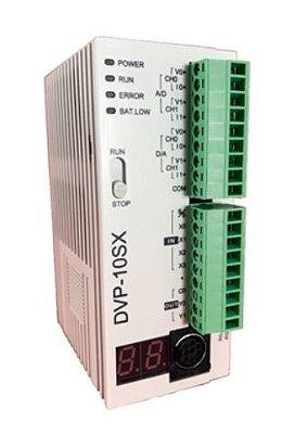 CLP Modelo SX com 6 Entradas, 4 Saídas Digitais e 2 Entradas, 2 Saídas Analógicas a Relé e Alimentação 24Vdc DELTA DVP10SX11R