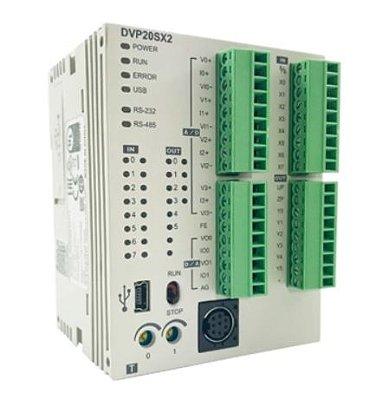 CLP Modelo SX2 com 12 Entradas e 8 Saídas Digitais a Relé e Alimentação 24Vdc DELTA DVP20SX211R
