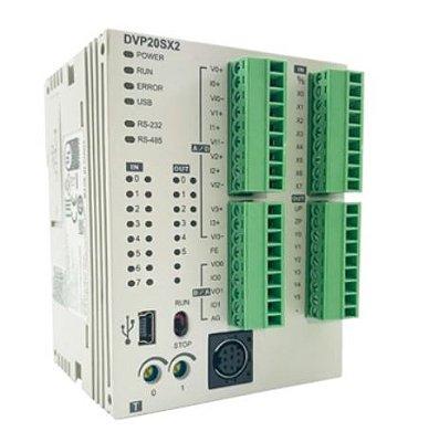 CLP Modelo SX2 com 12 Entradas e 8 Saídas Digitais a Transistor NPN e Alimentação 24Vdc DELTA DVP20SX211T