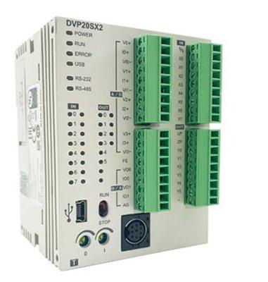 CLP Modelo SX2 com 12 Entradas e 8 Saídas Digitais a Transistor PNP e Alimentação 24Vdc DELTA DVP20SX211S