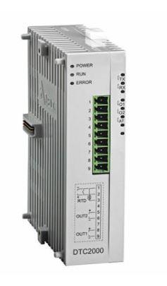 Controlador de temperatura DTC tipo modular com Unidade de extensão com 1 saída de tensão 0~10Vdc linear e 1 saída a Rele DELTA DTC2000L