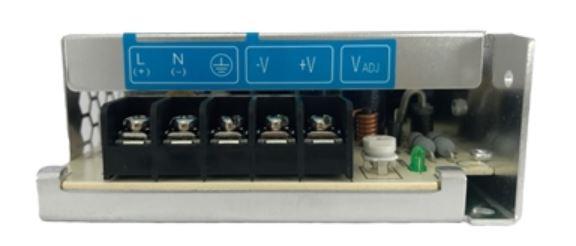 Fonte de alimentação com tensão de entrada 85~264Vac monofásica ou 120~375Vdc e tensão de saída 24Vdc - potência de saída 35W (1,46A) montado em caixa de Alumínio DELTA PMC-24V035W1AA