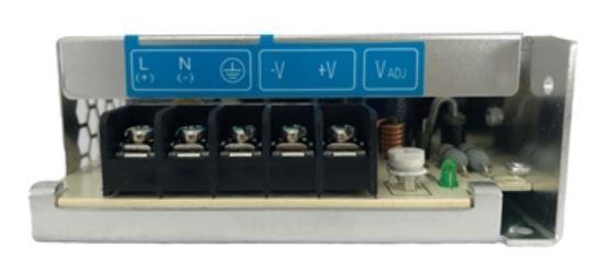 Fonte de alimentação com tensão de entrada 85~264Vac monofásica ou 120~375Vdc e tensão de saída 24Vdc - potência de saída 50W (2,1A) montado em caixa de Alumínio DELTA PMC-24V050W1AA