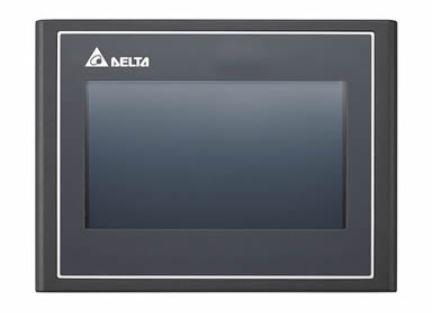IHM - Modelo 100 de 4,3'' SEM ethernet com 65536 cores, 480x272 - 256MB de memória de programa - Processador 800MHz com portas comunicação USB e 2 COM DELTA DOP-103BQ
