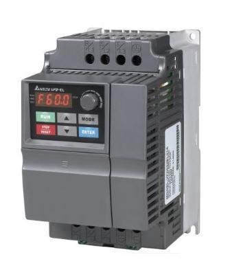 Inversor de Frequência 1CV (0,75KW) - Modelo EL - 220 Volts - Trifásico - Standard - utilizado para variação de velocidade de motores elétricos. DELTA VFD007EL23A