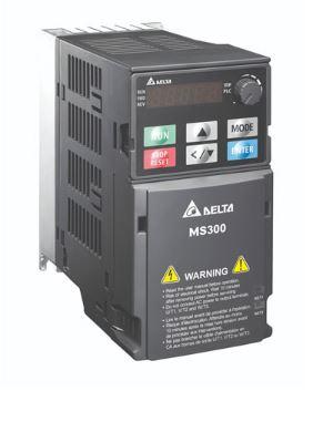 Inversor de Frequência 25CV (18,5KW) - Modelo MS - 380/480 Volts - Trifásico - Standard - Sem filtro EMI - Com STO - Frequência Normal de Saída DELTA VFD38AMS43ANSAA