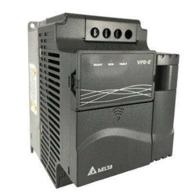 Inversor de Frequência 2CV (1,5KW) - Modelo E - 220 Volts - Trifásico - Driver Padrão - utilizado para variação de velocidade de motores elétricos. DELTA VFD015E23A