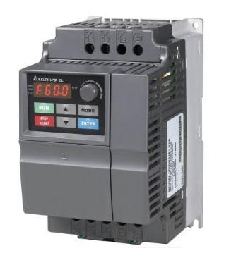 Inversor de Frequência 2CV (1,5KW) - Modelo EL - 380/480 Volts - Trifásico - Standard - utilizado para variação de velocidade de motores elétricos. DELTA VFD015EL43A