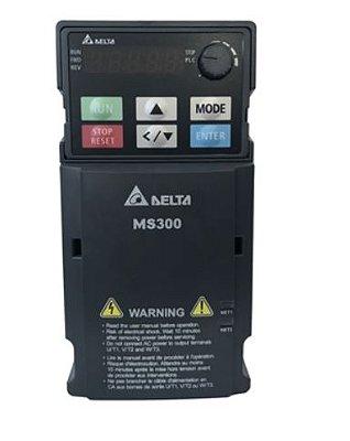 Inversor de Frequência 2CV (1,5KW) - Modelo MS - 380/480 Volts - Trifásico - Standard - Sem filtro EMI - Com STO - Frequência Normal de Saída DELTA VFD4A2MS43ANSAA