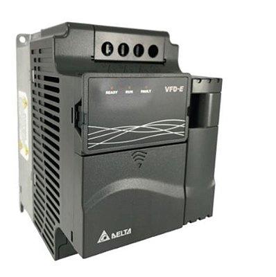 Inversor de Frequência 3CV (2,2KW) - Modelo E - 220 Volts - Monofásico - Driver Padrão - Com transistor de frenagem incorporado - utilizado para variação de velocidade de motores elétricos. DELTA VFD022E21A