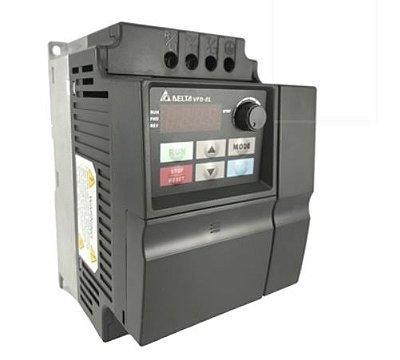 Inversor de Frequência 3CV (2,2KW) - Modelo EL - 220 Volts - Monofásico - Standard - Sem transistor de frenagem incorporado - utilizado para variação de velocidade de motores elétricos. DELTA VFD022EL21A