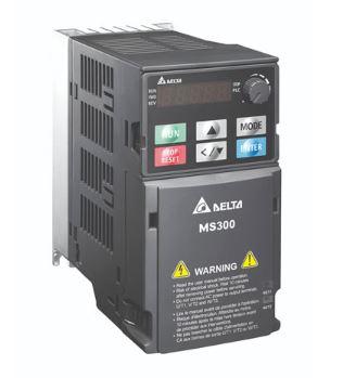 Inversor de Frequência 3CV (2,2KW) - Modelo MS - 220 Volts - Monofásico - Standard - Sem filtro EMI - Com STO - Frequência Normal de Saída DELTA VFD11AMS21ANSAA