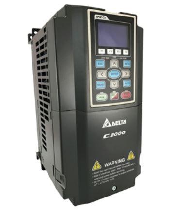 Inversor de Frequência 5CV (3,7KW) - Modelo C2000 - 380/480 Volts - Trifásico - Standard - utilizado para variação de velocidade de motores elétricos. DELTA VFD037C43A