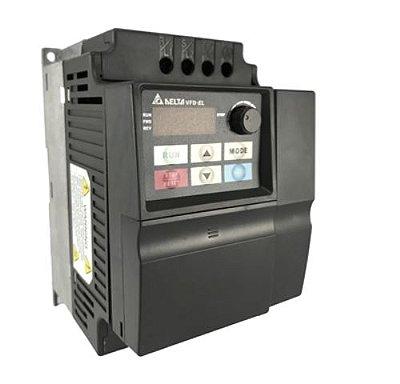 Inversor de Frequência 5CV (3,7KW) - Modelo EL - 220 Volts - Trifásico - Standard - Sem transistor de frenagem incorporado - utilizado para variação de velocidades de motores elétricos. DELTA VFD037EL23A