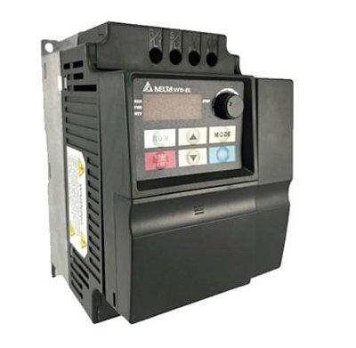 Inversor de Frequência 5CV (3,7KW) - Modelo EL - 380/480 Volts - Trifásico - Standard - Sem transistor de frenagem incorporado para variação de velocidade de motores elétricos. DELTA VFD037EL43A
